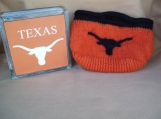 Longhorn knitted/felted purse.