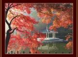 Autumn Gazebo Cross Stitch Pattern