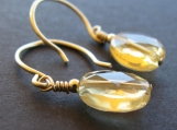 Citrine and 14k Goldfilled Earrings