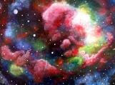 Rainbow coloured nebula