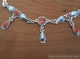 necklaces, silver fashion necklaces, red coral jewellery