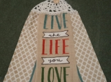 2 New Hanging kitchen towels with crocheted top/LiveLifeLove