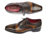 Paul Parkman Men's Captoe Oxfords Camel & Olive Shoes