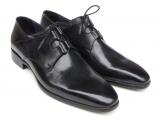 Paul Parkman Men's Ghillie Lacing Plain Toe Black Shoes