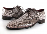 Paul Parkman Men's Gray & Brown Genuine Python (snakeskin) Derby Shoes