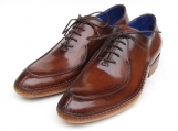 Paul Parkman Men's Side Handsewn Split-toe Brown Oxfords