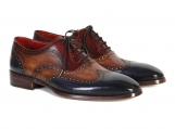 Paul Parkman Men's Three Tone Wingtip Oxfords