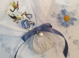 Set of 12 Hanky Sachets-Pearl  Bead-Lavender - Includes Shipping