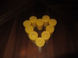 100% Pure Natural Beeswax Votive Candles in Bulk of 36