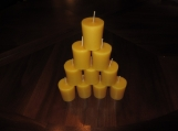 100% Pure Natural Beeswax Votive Candles in Bulk of 72
