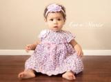 baby dress- flower girl dress- handmade baby dress- purple dress- crochet baby dress- baby girl outfit- photo prop dress- birthday dress