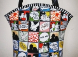 Tootles Boutique Bag - Comic Kiss Me by Michael Miller Designer
