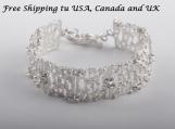 950 Sterling Silver Bridal Bracelet