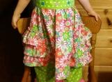 Toddlers 2 pc set , ruffled dress top, ruffled pants, 3t, pink,