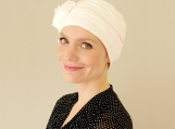 Chemo hat in cream, black, navy and taupe