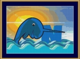 N Is For Narwhal Cross Stitch Pattern