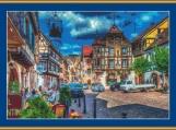 Street Scene At Kaysersberg Cross Stitch Pattern