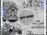 Welcome to the Neighborhood Digi Word Art and Image Set