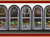 Cycling Windows Cross Stitch Pattern
