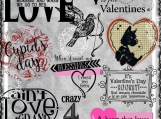 Crazy for Valentines Day Digi Word Art and Image Set