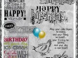 Happy Birthday to You Digi Word Art and Image Set