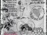 Happy Hearts Day Digi Word Art and Imagae