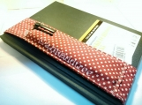 Red Polka dots Journal pen holder book bandolier id1370361