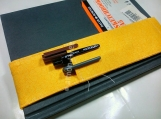 Sunny swirls elastic notebook pen holder id20391