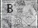 B is for Bunny, Easter Bunny Digi Image and Word Art Set