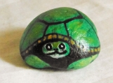 Turtle painted on a Stone