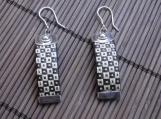 Straw Woven 950 Sterling Silver Earrings