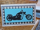 Blue Motorcycle Card for Him