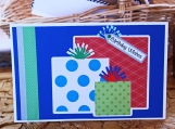 Green, Red and Blue Boys Present Card
