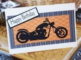 Orange and Black Motorcycle Card