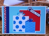 Red, White and Blue Boys Present Card