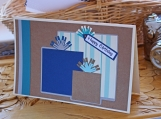 Blue, Brown and Aqua Present Card for Him