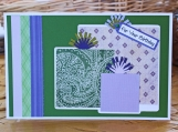 Green and Purple Birthday Present Card