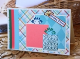Green, Pink and Plaid Birthday Present Card