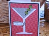 Martini Glass Celebration Card