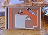Orange, Black and Brown Present Card for Him
