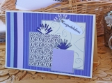 Purple and Silver Hearts Wedding Present Card