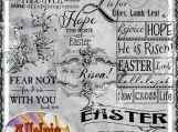 He is Risen, Easter, Digi Word Art And Image Set