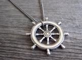 Men's Necklace - Men's Nautical Necklace - Men's Silver Necklace
