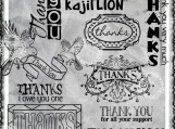 All Forms of Thanks Digi Word Art Sentiment Set