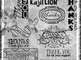 All Forms of Thanks Digi Word Art Sentiment Set