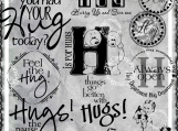 Feel the Hug, Digi Image and Word Art Set