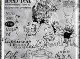 Life is Tea Riffic Digi Image and Word Art Set