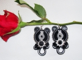 Soutache earrings - Moonlit Night