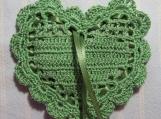 """Green 4""""X4"""" Heart Sachet-'Green Meadow' Scent-Cindy's Loft-368"""