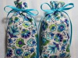 "Turquoise 3""X2"" Sachet-'Purple Rain' Fragrance-Cindy's Loft-110"